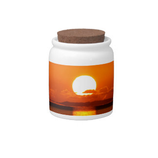 Tropical Sunrise in Orange Candy Jars