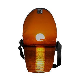 Tropical Sunrise in Orange Messenger Bag