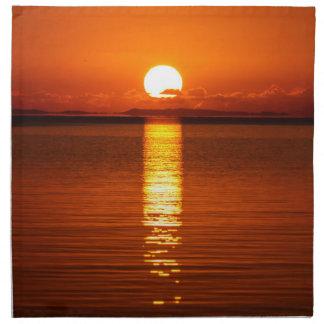 Tropical Sunrise in Orange Napkins