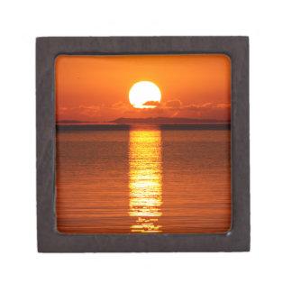 Tropical Sunrise in Orange Premium Jewelry Boxes