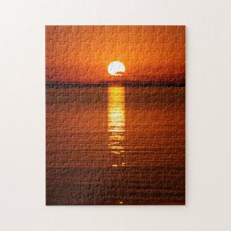Tropical Sunrise in Orange Puzzle
