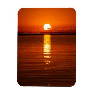 Tropical Sunrise in Orange Rectangle Magnets