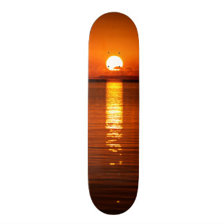 Tropical Sunrise in Orange Skateboard Deck
