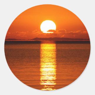 Tropical Sunrise in Orange Sticker