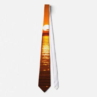 Tropical Sunrise in Orange Tie
