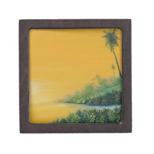 tropical sunrise.jpg premium trinket box