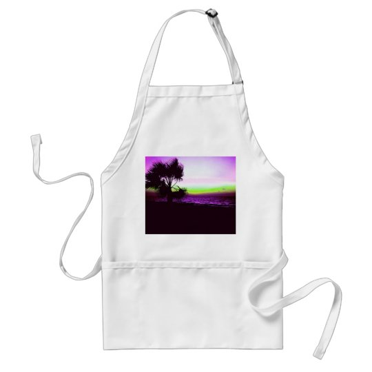 Tropical Sunset Adult Apron