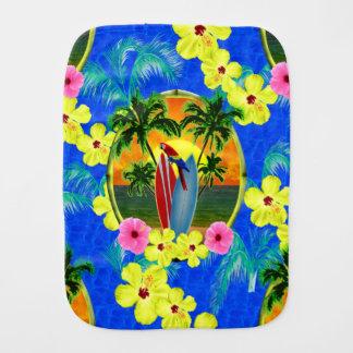 Tropical Sunset Baby Burp Cloth