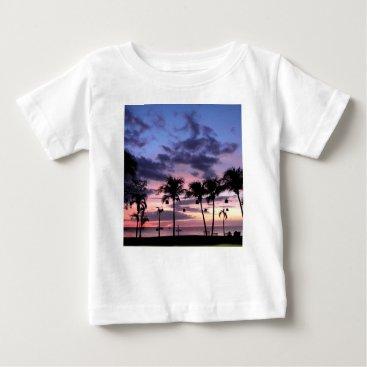 Beach Themed Tropical Sunset Baby T-Shirt