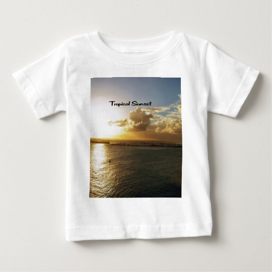 Tropical sunset baby T-Shirt