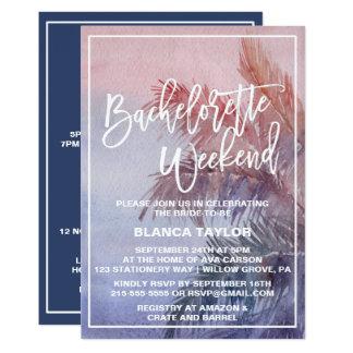 Tropical Sunset Bachelorette Weekend Invitation
