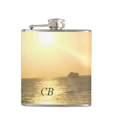 Beach Themed Tropical  Sunset Beach Flask