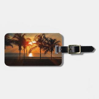 Tropical Sunset Beach Luggage Tag