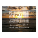 Tropical Sunset Beach Wedding Save the Date Post Card