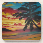 Tropical Sunset Beverage Coasters