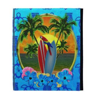 Tropical Sunset Blue Tiki iPad Folio Cases