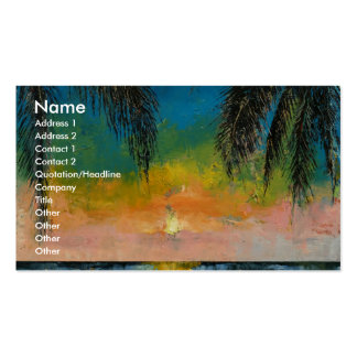 Tropical Sunset Double-Sided Standard Business Cards (Pack Of 100)