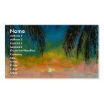 Tropical Sunset Business Card Template