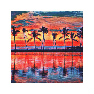 Tropical Sunset Canvas
