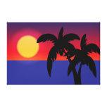 Tropical sunset canvas prints