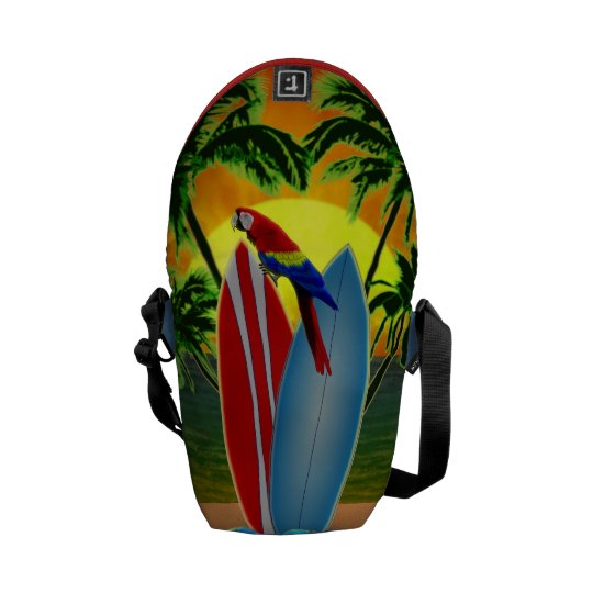Tropical Sunset Courier Bag