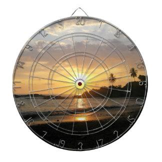 Tropical Sunset Dart Board