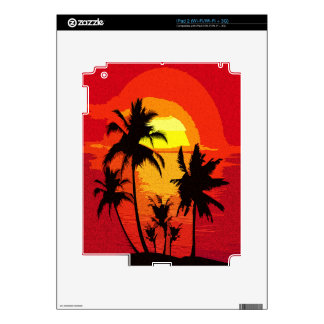 Tropical sunset decal for the iPad 2