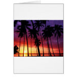 Tropical Sunset Designs Greeting Card
