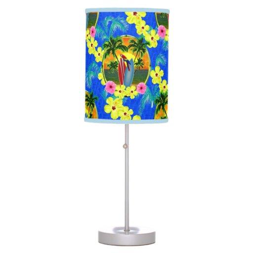 Tropical Sunset Desk Lamp Zazzle