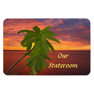 Tropical Sunset Door Marker Rectangular Photo Magnet