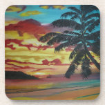 Tropical Sunset Drink Coasters