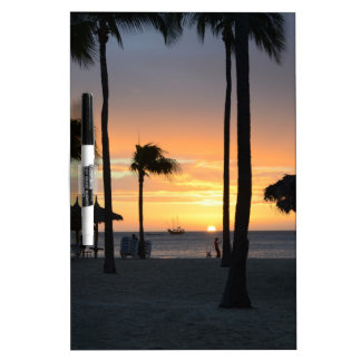 Tropical Sunset Dry Erase Whiteboards