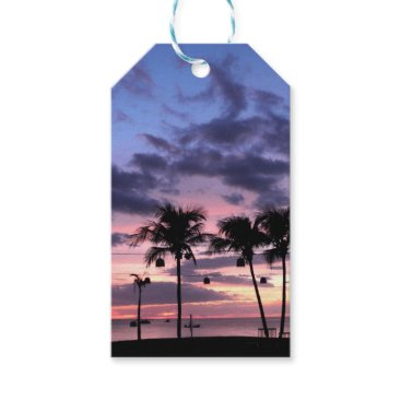 Beach Themed Tropical Sunset Gift Tags
