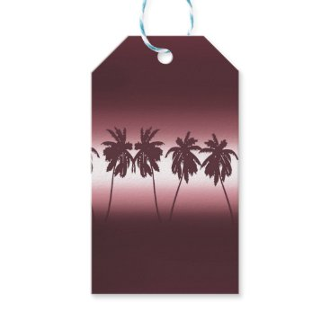 Tropical sunset gift tags