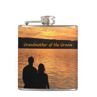 Tropical Sunset Grandmother of the Groom Flask