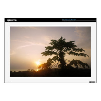 tropical sunset in costa rica skin for laptop
