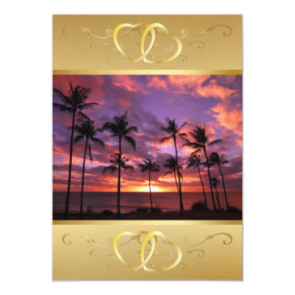 Tropical Sunset Invitation3 Card