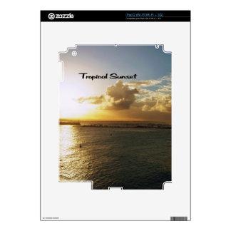 Tropical sunset iPad 2 decals