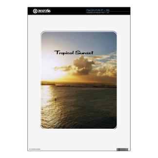 Tropical sunset iPad skins