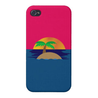 Tropical Sunset iPhone 4 Cases