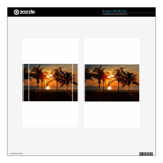 Tropical Sunset Kindle Fire Decal