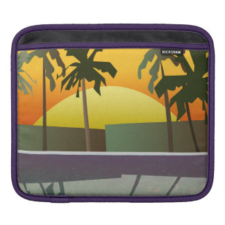 Tropical Sunset Landscape, Palm Trees iPad Sleeve