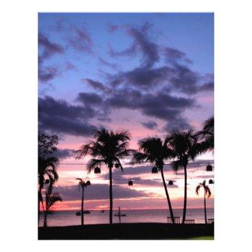 Beach Themed Tropical Sunset Letterhead
