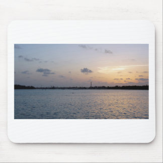 tropical sunset mouse pad