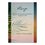 Tropical Sunset Palm Fronds Custom Announcements
