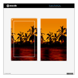 Tropical Sunset Paradise Kindle Fire Decal