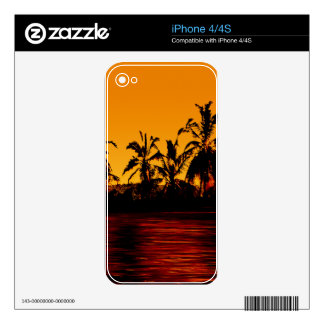 Tropical Sunset Paradise Decals For iPhone 4S