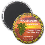Tropical Sunset Personalized Door Marker Magnet