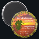 """Tropical Sunset Personalized Door Marker Magnet<br><div class=""""desc"""">STsateroom Door Marker magnet for your cruise to a tropical destination... perhaps Hawaii! Makes a wonderful souvenir afterwards. Door markers are great when you are cruising with a group, to help others find your cabin, or just to proclaim your membership in the group! Can also be used by those not...</div>"""
