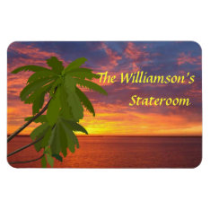 Tropical Sunset Personalzied Cruise Door Marker Magnet at Zazzle